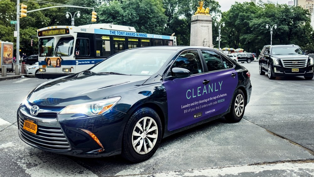 INNOVATIVE FORMAT - Our displays are 250% - 400% larger than watered-down taxi top ads. No more competing with other brands for eyeballs in the slideshow!