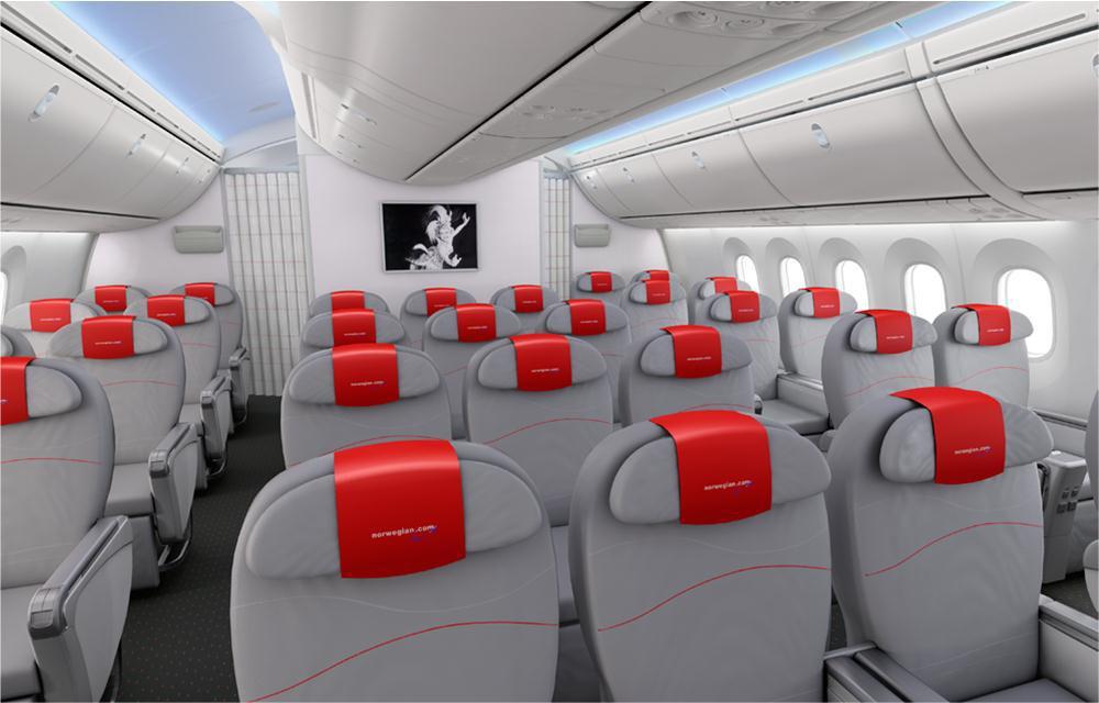 Norwegian Airlineu0027s Premium Economy Cabin