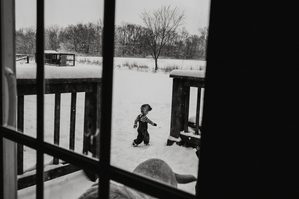 black and white snow day by ashley manley