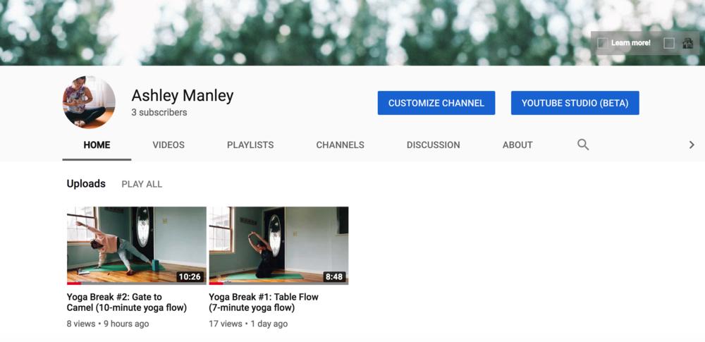 ashley manley, youtube