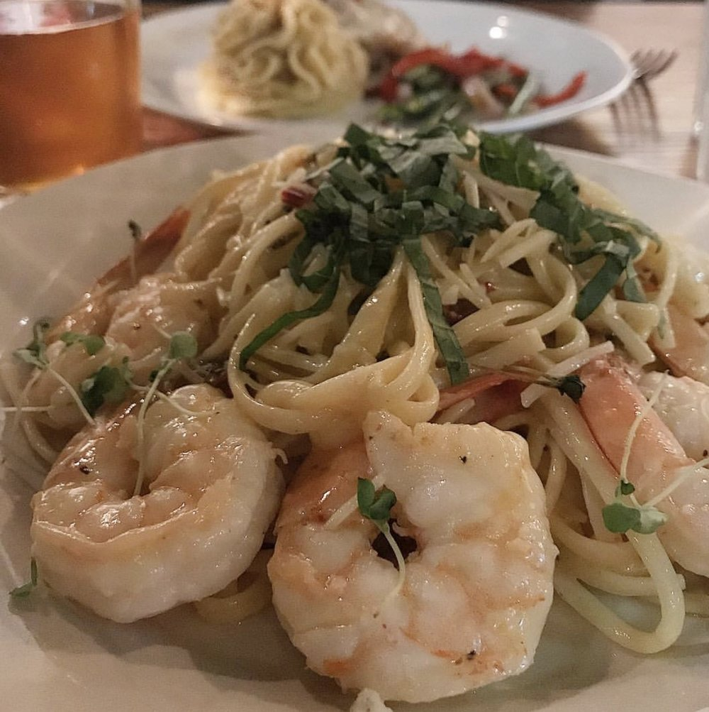 Prawn Linguini from Wiley's Downtown Bistro