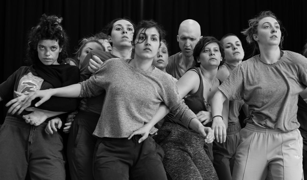 © Anne-Flore de Rochambeau // TransFormation Danse 2017 | Maxine Segalowitz, Amanda Pye,Adeline Faucher, Lael Stellick,Anne Bornancin, Genevieve Robitaille, Krista Newey