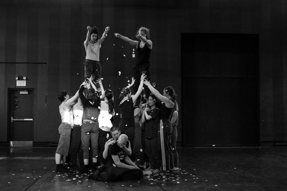 © Anne-Flore de Rochambeau // TransFormation Danse 2017 | Maxine Segalowitz, Genevieve Robitaille, Lael Stellick, Claire Jeannot