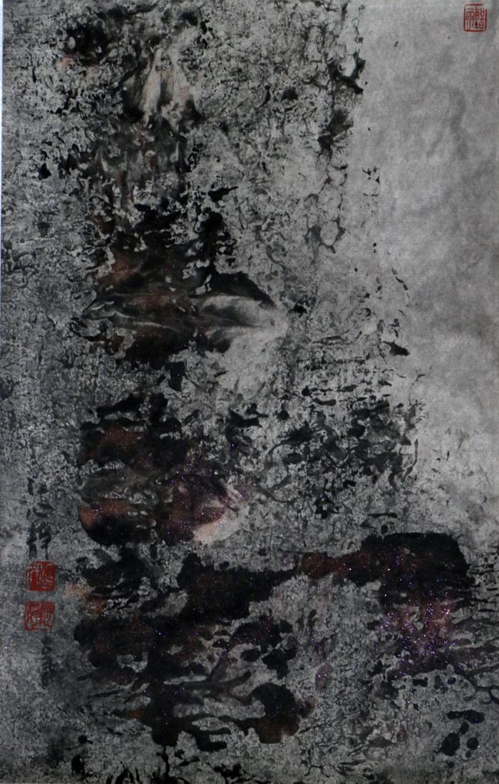 江心靜 / 登高徐行 / 2014 / 27 x 17 cm / 彩墨紙本