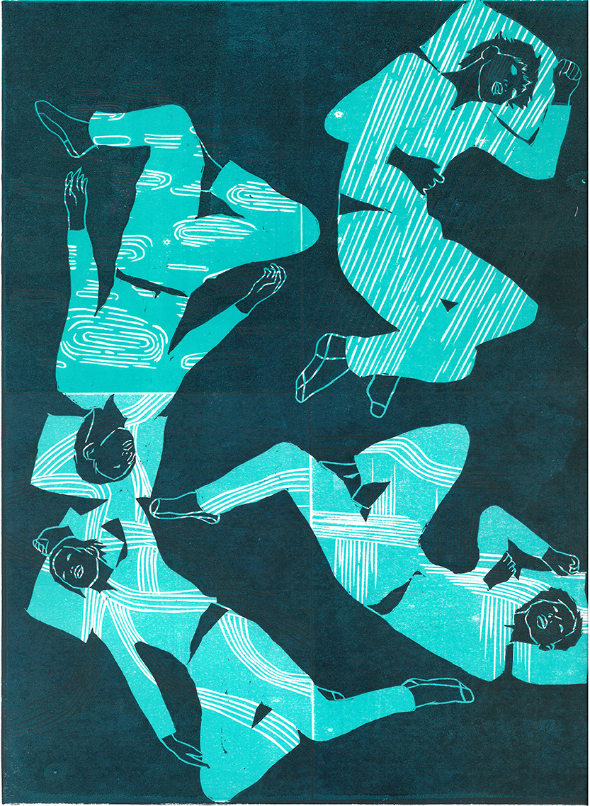 Dreams Tonite  Relief print / 2015