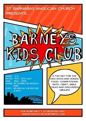 Holiday Kids Club — St Barnabas Anglican Church Fairfield and