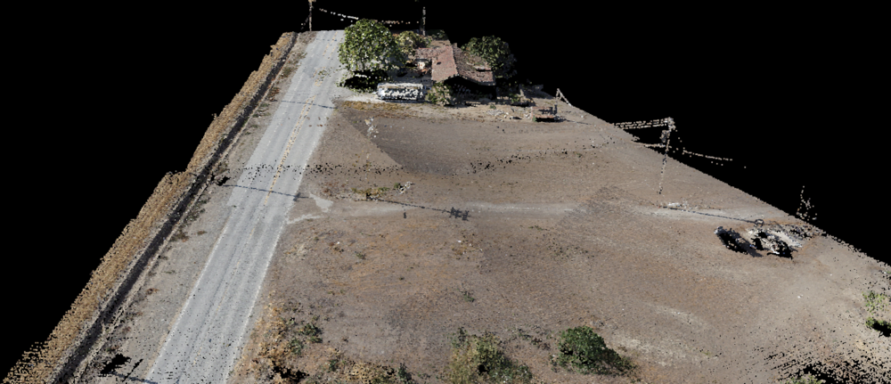 Colorized point cloud of the farm