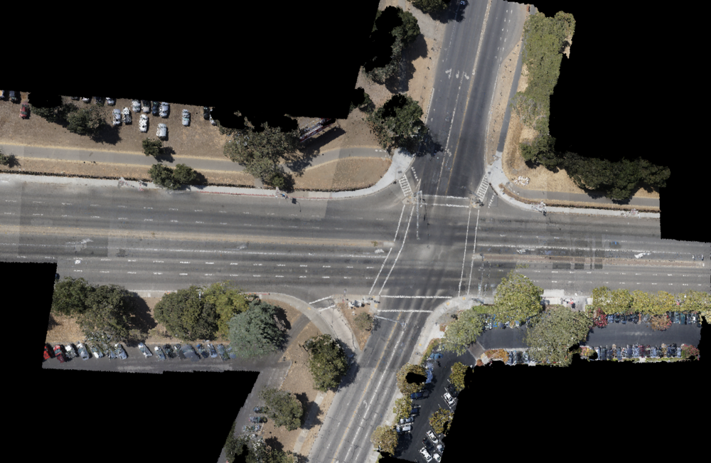 3D map of an intersection
