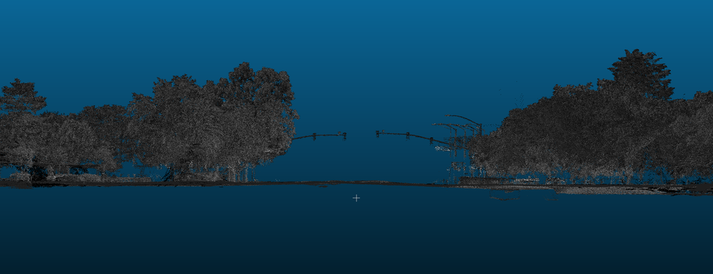 LiDAR point cloud of the intersection