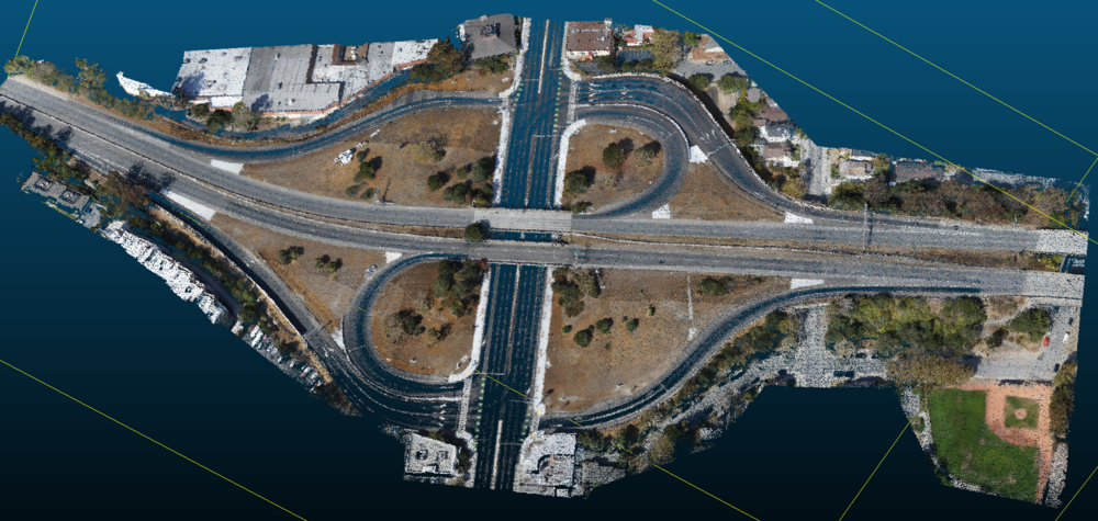 HD map of highway intersection