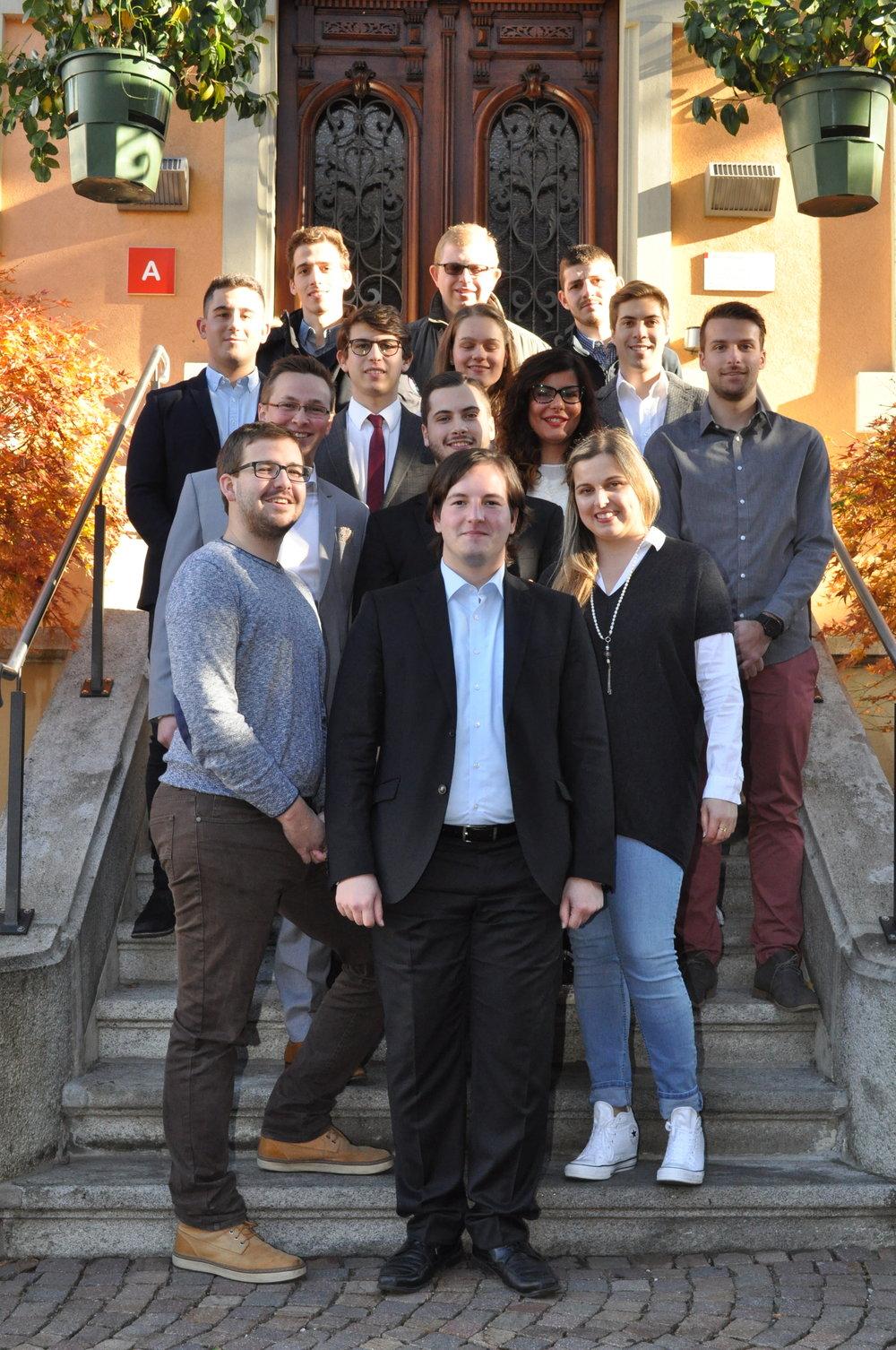 Il Comitato di Generazione Giovani Ticino all'Assemblea annuale di novembre 2017.