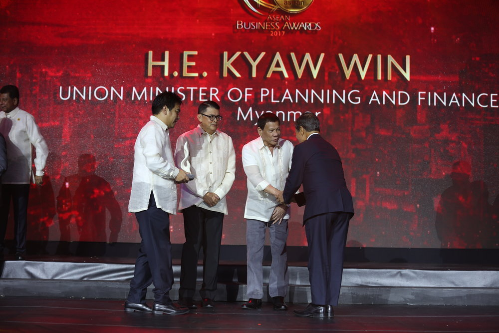 H.E. KYAW WIN UNION MINISTER OF PLANNING AND FINANCE MYANMAR