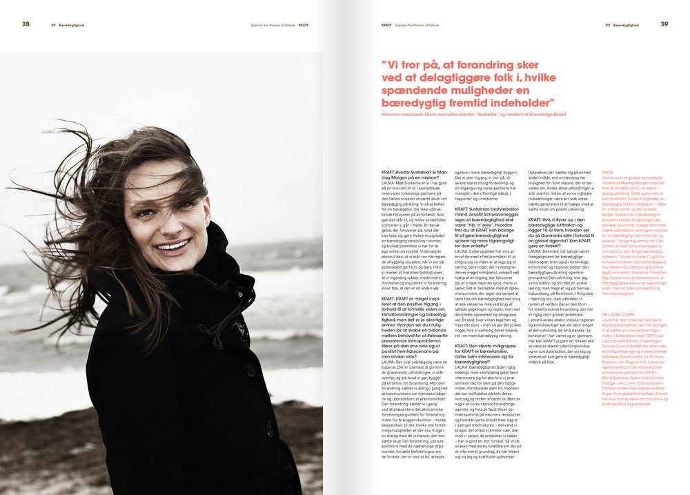 Interview in Kraft Magazine, 08 2013