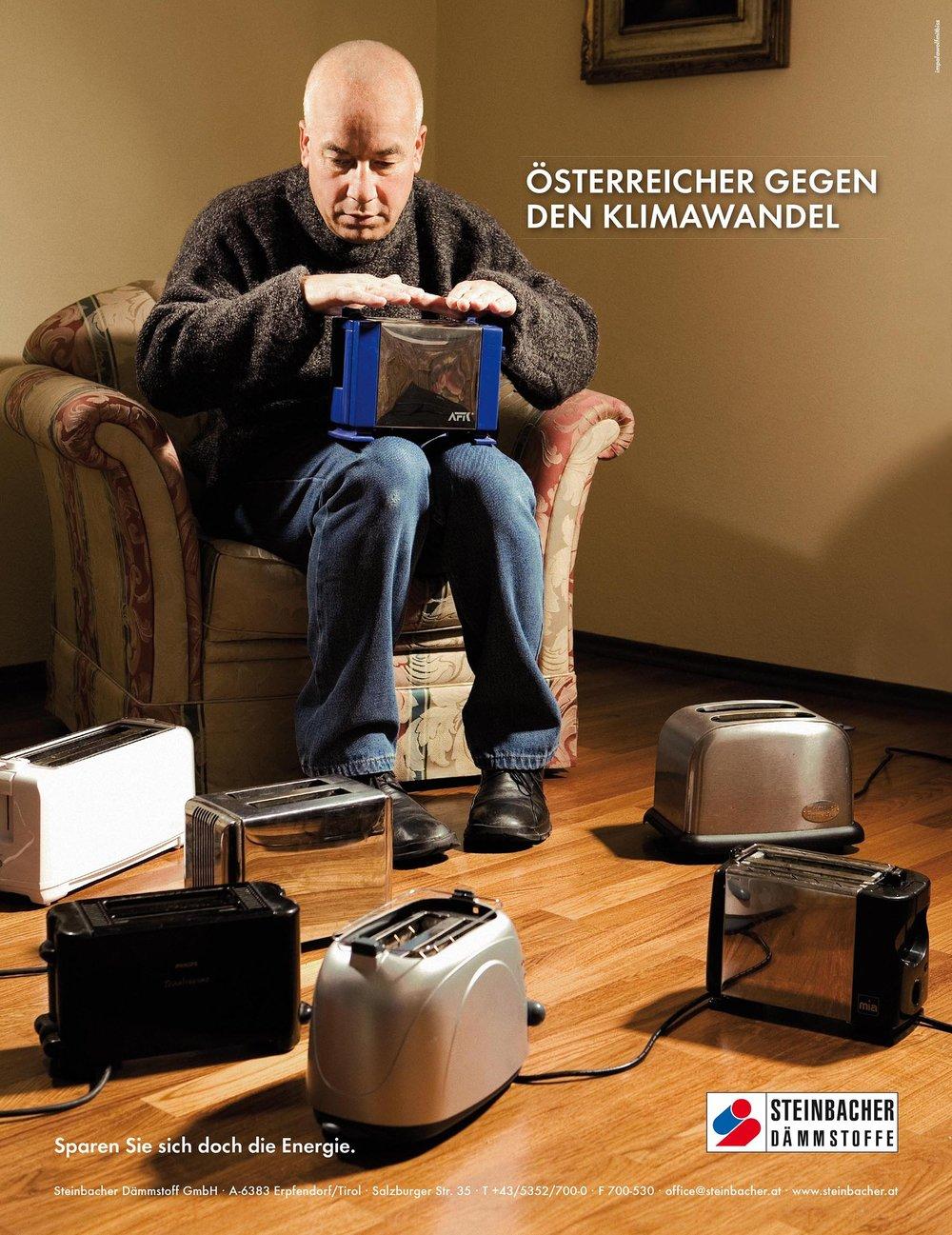 2008: Tirolissimo für beste Werbekampagne     Kunde: Steinbacher Dämmstoffe, Agentur:IWMB
