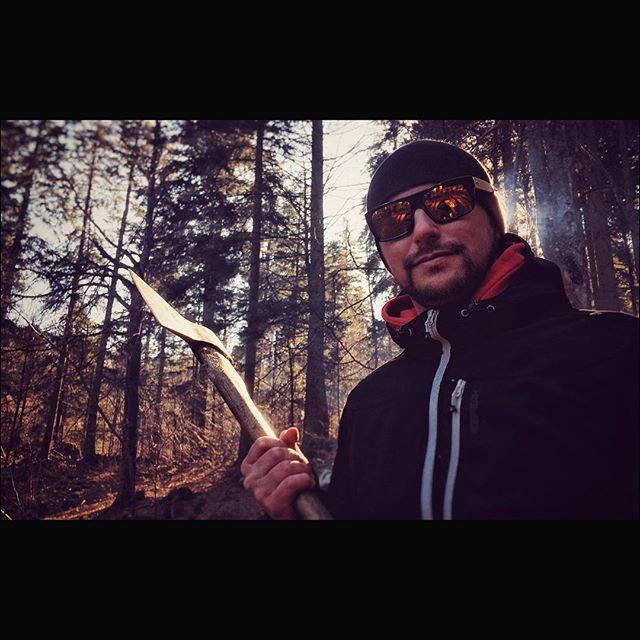 Cutting a film...old school:) @mihajanez Editing the final pieces:)) #film #shooting #job #nocrop #cinematography #forest #backlight #daylight #axe #shooting #sunglasses #nature #smoke #photooftheday #picoftheday #tbt #colorful #contrast #shinee #kocevje #production