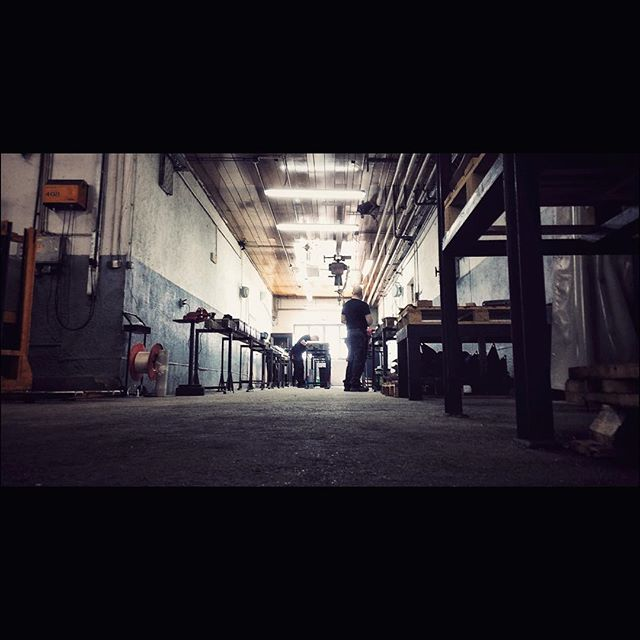 Shooting new stuff #industrial #promo #kocevje #machine #hall #industry #cinematography #daylight #light #working #sony #fs7 #ronin #dji #contrast #arri #dark #photooftheday #picoftheday #iphone #nocrop #shooting #job #filmmaking