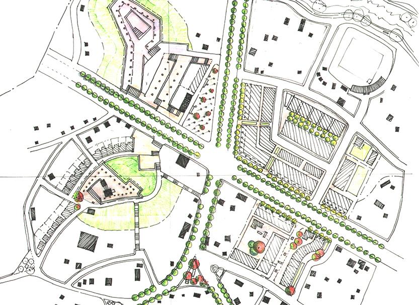 Sketch of Pavia Arriba area