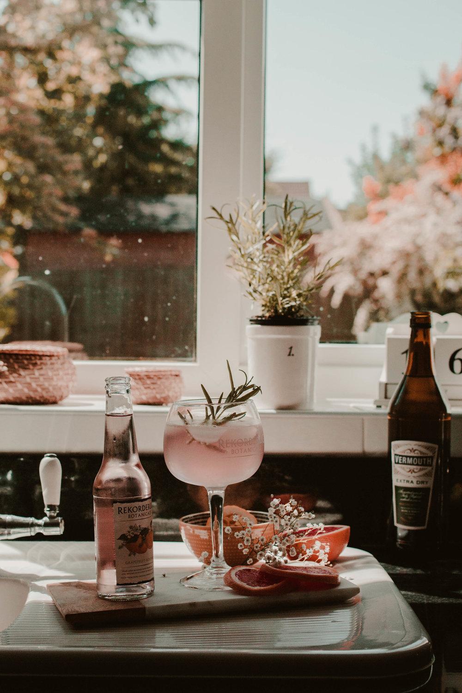 Grapefruit martini -