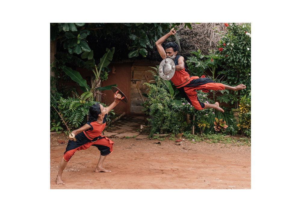 Kalari fighters are trained to a high level of athleticism, and some of their combat moves are hard to believe.