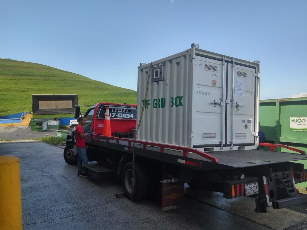 Direct sale box in Puerto Rico providing a resilient solution during rebuilding efforts of a primary school.