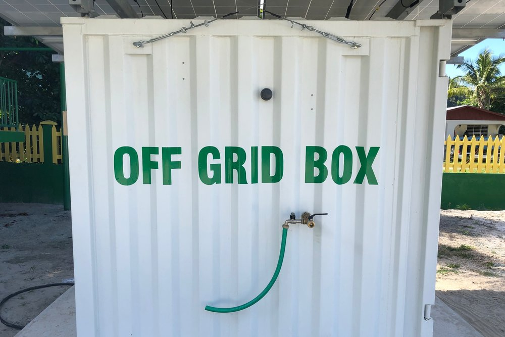 Virgin Islands Off Grid Water Electricity Box