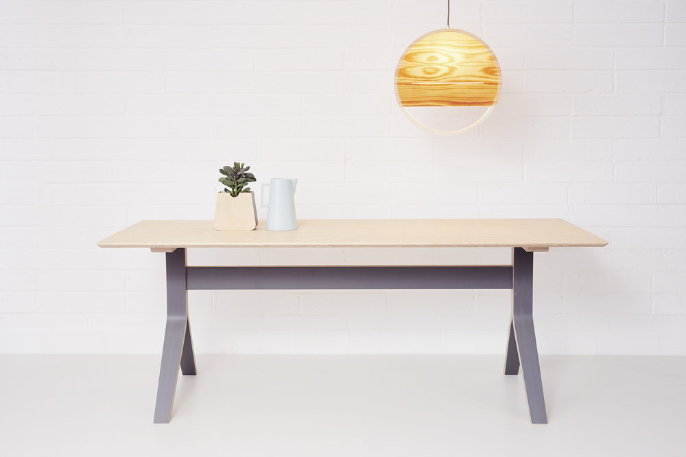 Table (£720) with large Sunset Lamp (£150)
