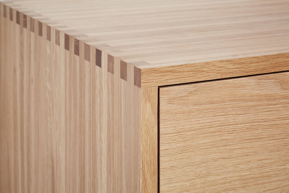 Close up of finger jointed effect on Lozi kitchen