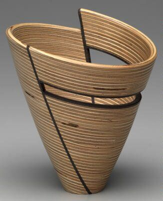 Turned Plywood bowl by Virginia Dotson