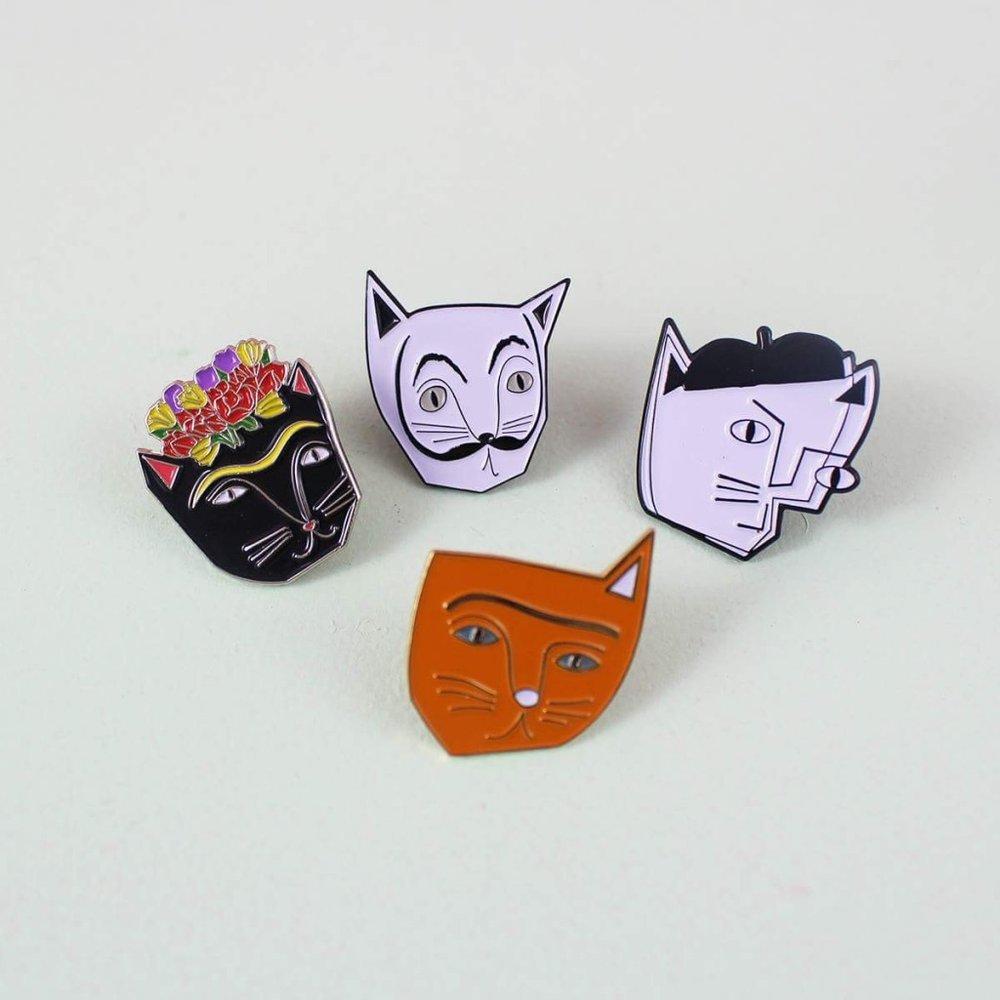Niaski's  Artist Cat Pin Series, £7.50 each