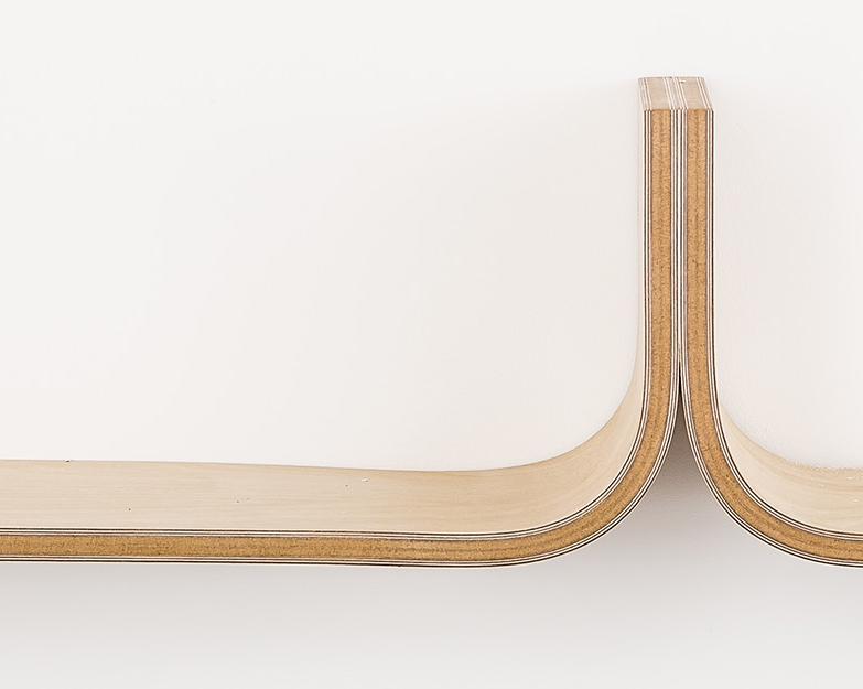The original U shelf was made from Mdf and wood veneer