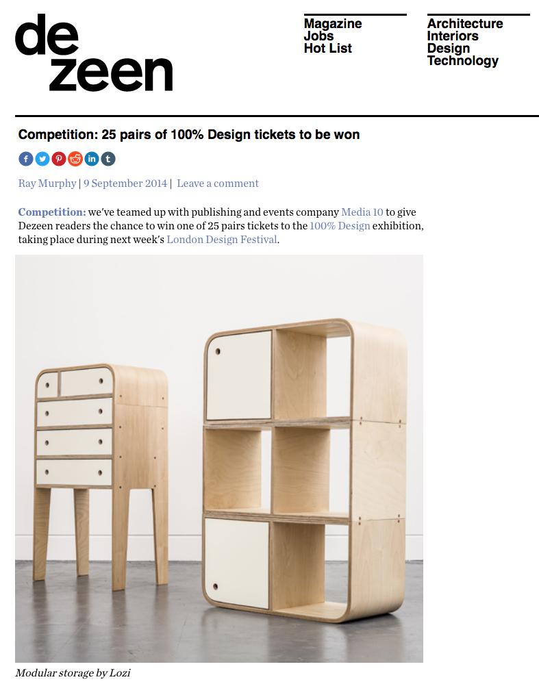 Lozi's modular storage in Dezeen