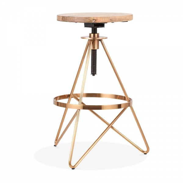 Cult Furniture's Hendrix stool in  Brass . £89