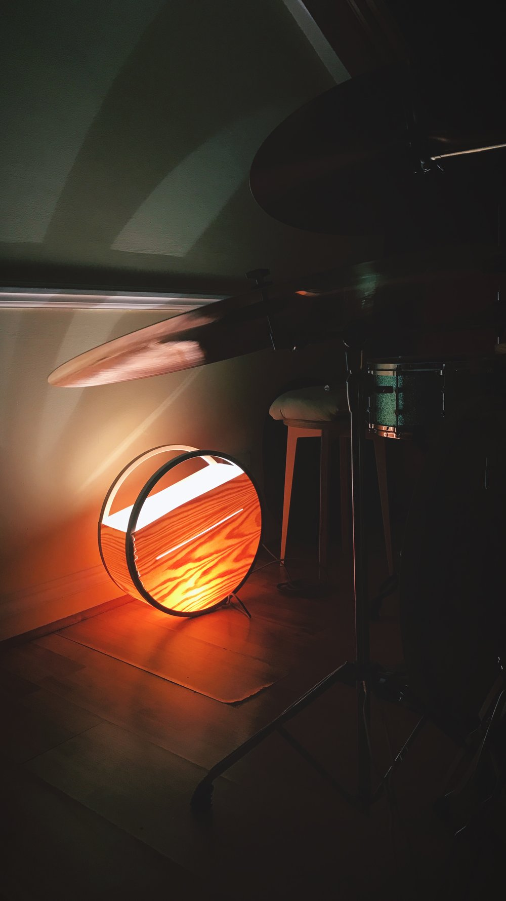 One of the early prototypes for the redesigned sunset also at home in our founder's flat.