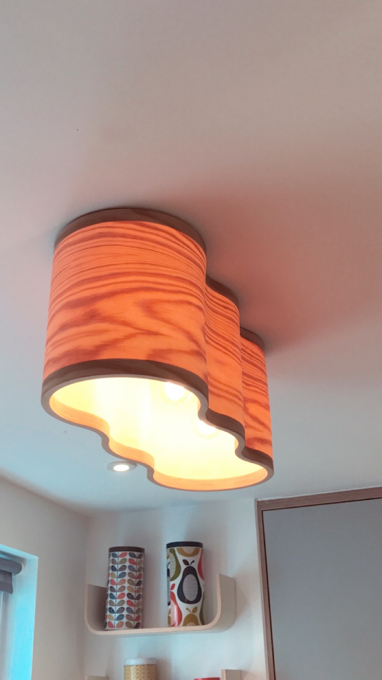 A bespoke Sunset Lamp made for a client by Lozi as part of their Kitchen refurbishment