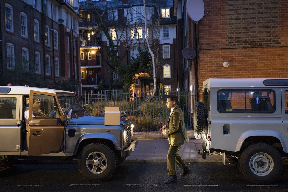 Soroush arriving at Hackney Town Hall in his beloved  Landrover Defender.  Photo: Magnus Arrevad