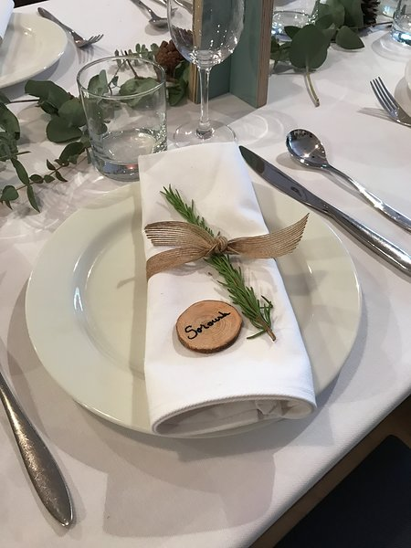 Soroush's place setting at the Lozi wedding