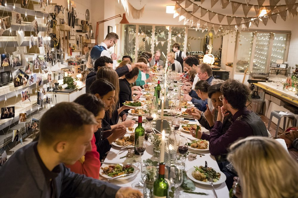 The wonderful dinner provided by Humdingers Catering. Photo: Magnus Arrevad.