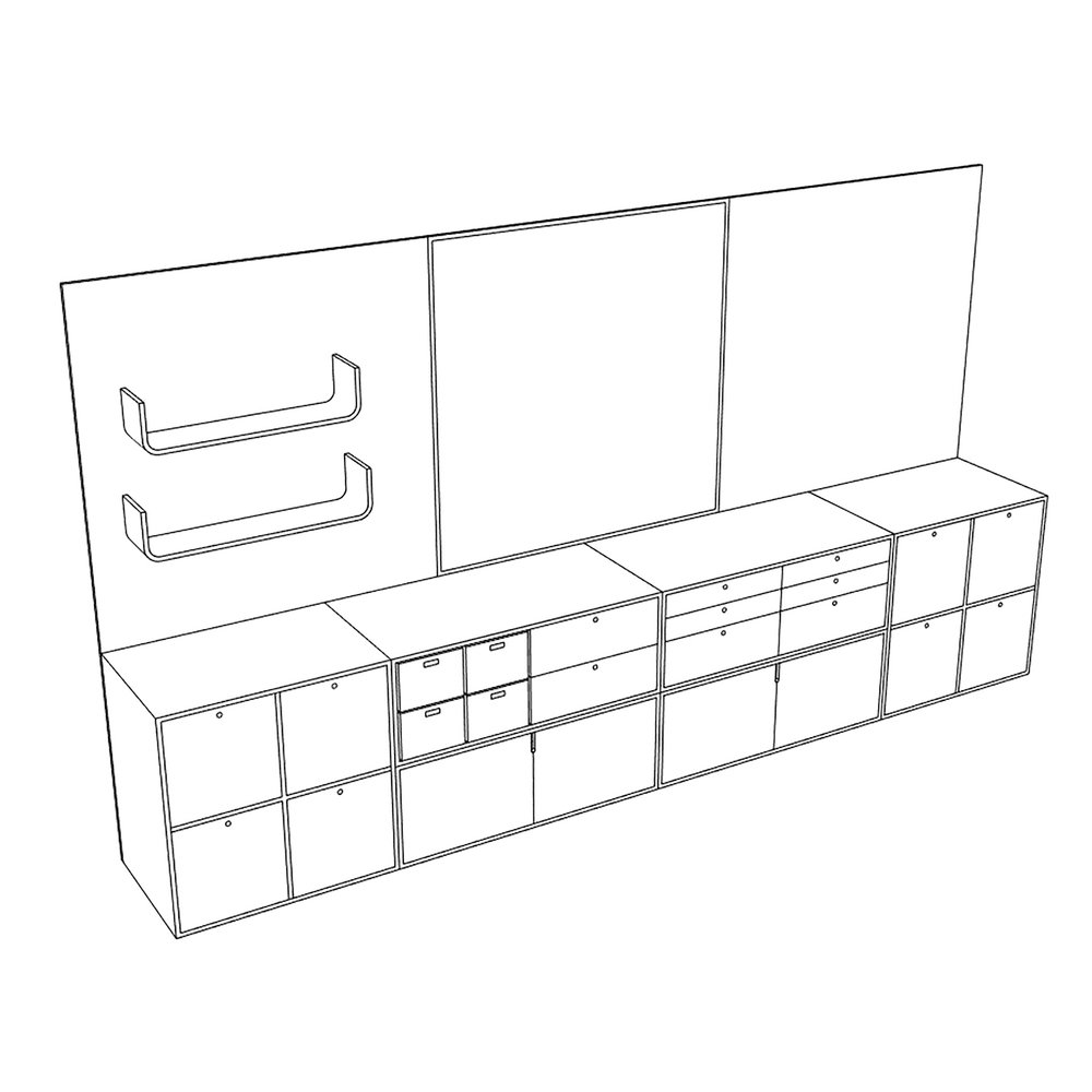 Lozi technical drawing Anna and Kirsty's kitchen Brighton