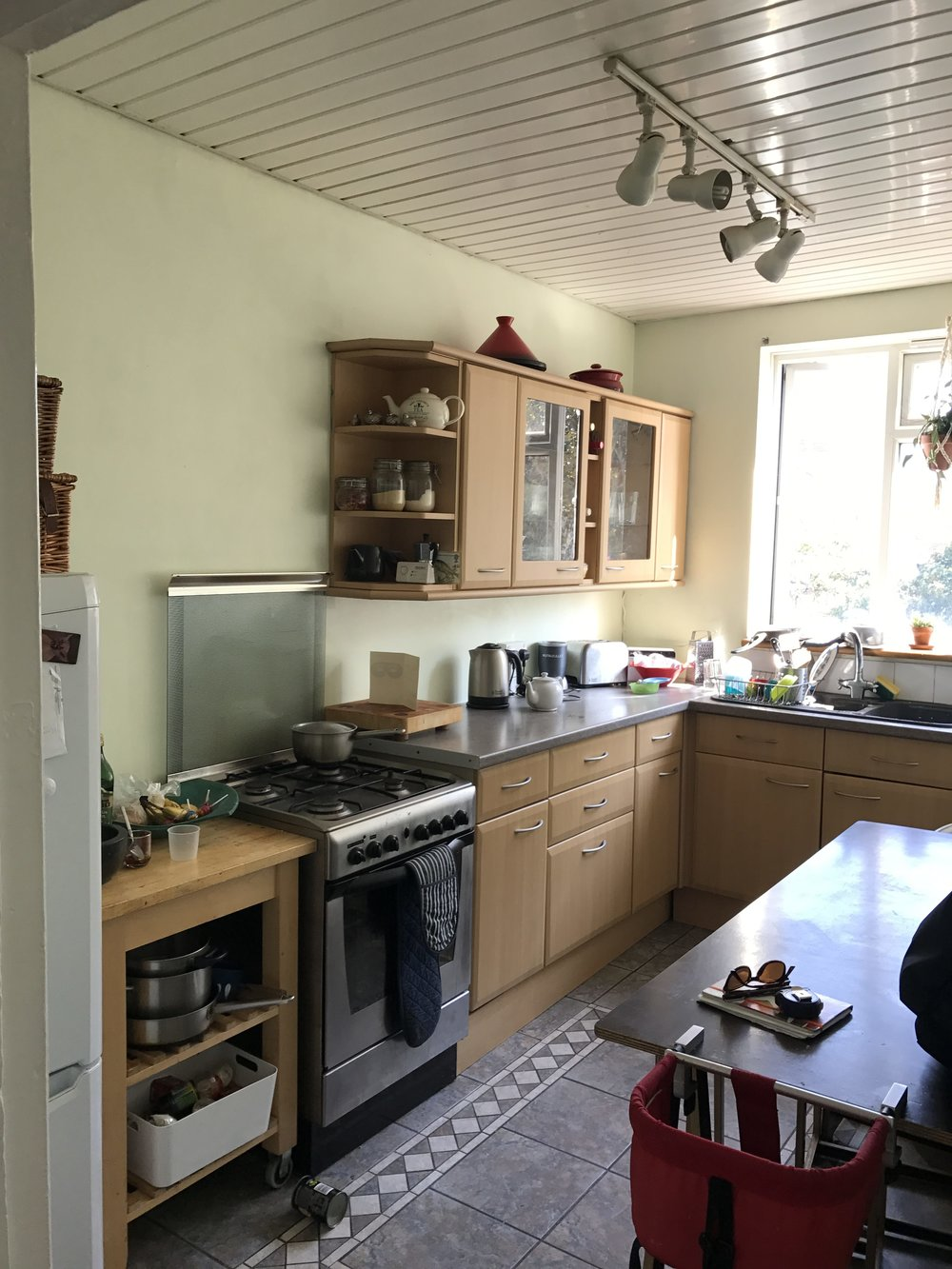 Sarah's Kitchen before Lozi's renovations