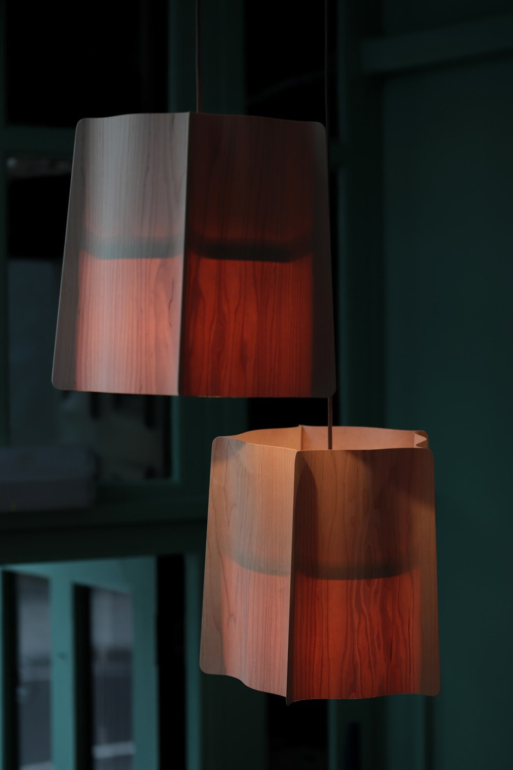 Unique lamps designed specifically for the salon.