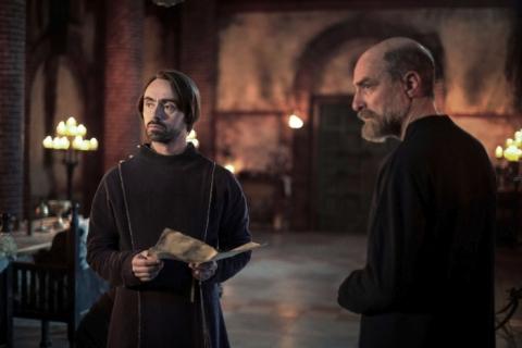 King Alfred (David Dawson) and Odda The Elder (Simon Kunz) plot their next move