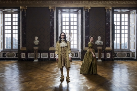 King Louis's XIV (George Blagden) is under the spell of his scheming mistress, Madame de Montespan (Anna Brewster).