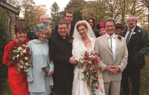 It was a busy Christmas day for the vicar in 2000 when he wed barmaid Bernice