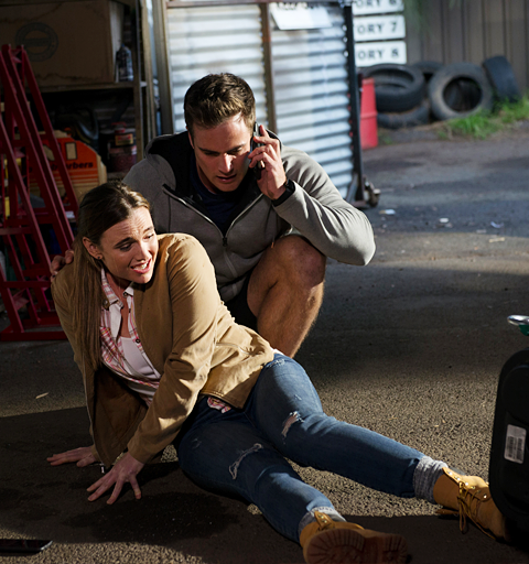 Hamish's sabotage plan puts Amy's life in danger…