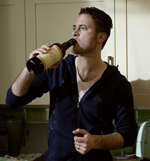 Luke hits the bottle - again