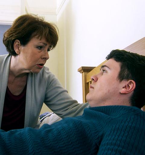 Karen finds James living rough…