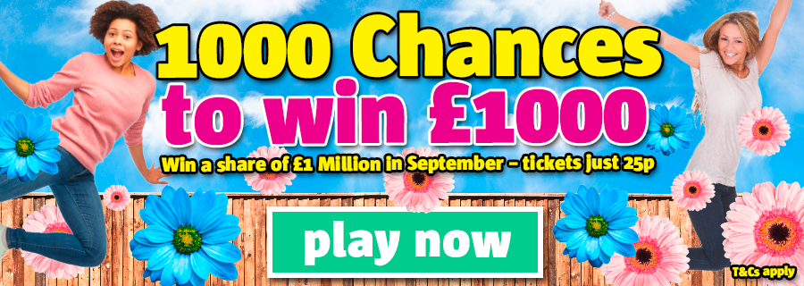 1000 chances to win £1000