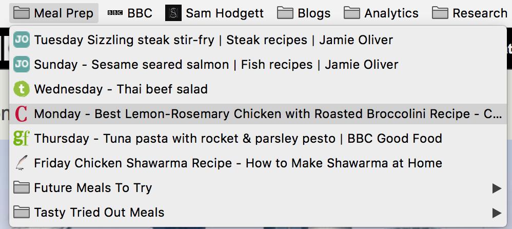 Sam Hodgett Meal Plan