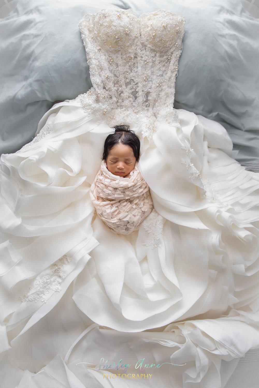 photo session newborn girl