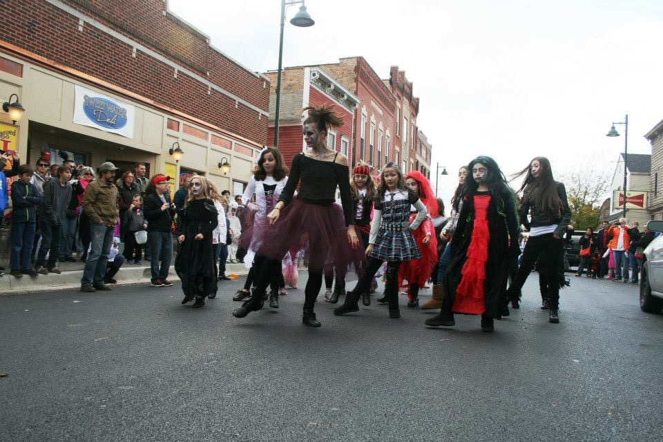 I started Allegro Music and Dance's annual Thriller Flash Mob as a way to bring our students out into the community. Each year everyone in the studio dressed as a Zombie and stormed the street during the town's Halloween Hoe-Down.